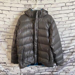 Nike Sportswear Grey Goose Down Puffer Jacket SZ XL